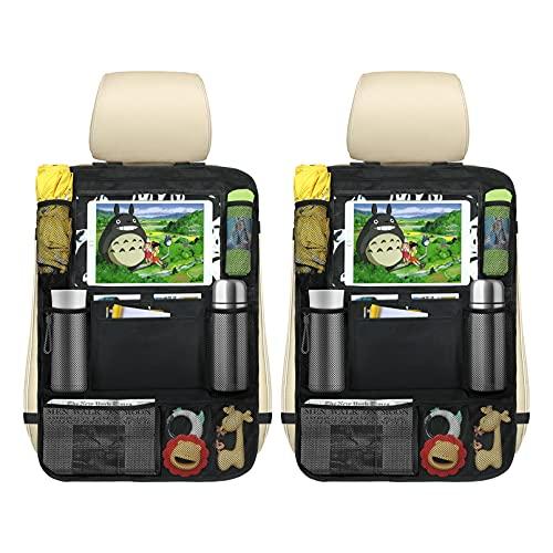 Yoofoss Organizer Sedile Auto, 2 Pezzi Organizer Auto Bambini ,Organizer Sedile Posteriore con Supporto Trasparente per iPad Tablet per Car SUV Minivan Camion Seats