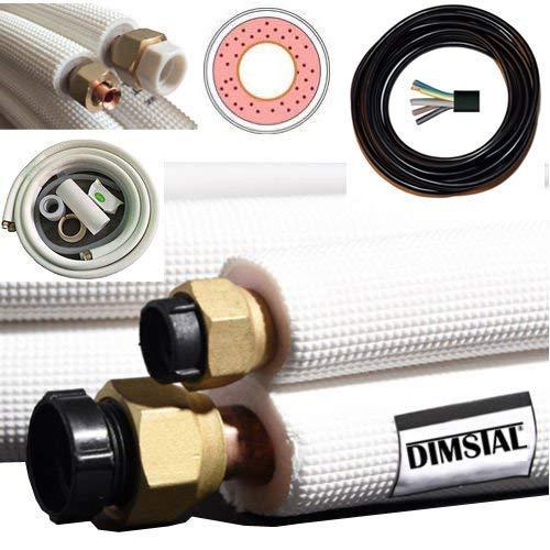 2x 20m Mono Split und Multisplit Kupferleitungen für 9000 und 12000 BTU Klimaanlage Klimagerät Komplett-Set (2x20m für 9/12000 btu)