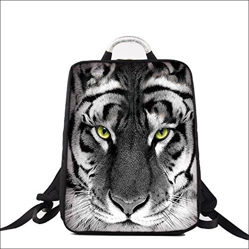 Luxburg® Diseño Mochila Multifuncional, Mochila para portátil para el Ocio, Escuela, Oficina, de hasta 17 Pulgadas, Motivo: Tigre
