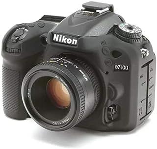 kinokoo Professionelle Silikon Schutzhülle für Nikon D7100/7200 digitale Spiegelreflexkamera, Nikon D7100, Gummi Gehäuse, Schwarz