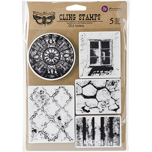 """Prima Marketing Finnabair Cling Stamps 6""""X7.5""""-Old Town"""