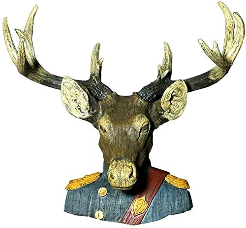 Suge Antiguo pintado Resina principal de los ciervos universal de pared que cuelga de la sala de pared creativo Crafts Faux Taxidermia animal Cabeza de decoración hechos a mano de Granja de decoración