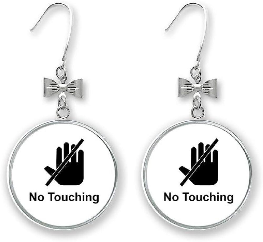 Warning Symbol Cartoon Pattern Max 68% OFF Soldering Bow Drop Pierced Earrings Stud Ho