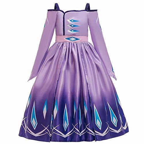 U/D Disfraz de princesa para niñas, vestido de fiesta de Halloween - morado - 4-5 años