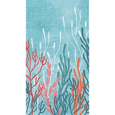Amazon Com Bathroom Hand Towels For Bathroom Guest Towels Disposable Paper Napkins Decorative Coral Tropical Beach Decor Theme 8 X 4 5 Pak 30 Home Kitchen
