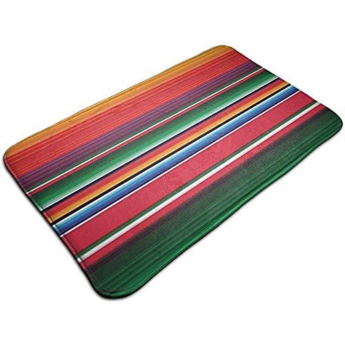 DaiMex deurmat, kleurrijk, Mexicaans tapijt, gestreept, voor badkamer, keuken, vloer, 40 x 60 cm
