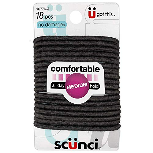 Ln Scunci NoDamage Comfortable All Day Medium Hold, (Pack of 4), Brown, 1 Count (Pack of 14)