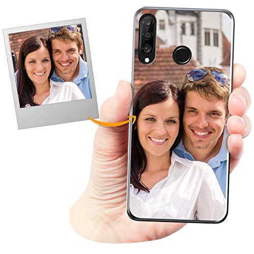Coverpersonalizzate.it Cover Personalizzata per Huawei P30 Litecon la Tua Foto, Immagine o Scritta - Custodia Morbida in TPU Gel Trasparente - Stampa di altissima qualità