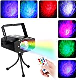 Miric LED Disco Light DJ Party Proyector, 4 colores con sonido, perfecto para Night Club Bar Pub Christmas Año nuevo Party Home Decoration, Iluminación con control remoto en 2 modos