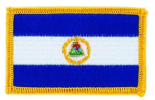 Aufnäher zum Aufbügeln, bestickt mit der Flagge von Nicaragua