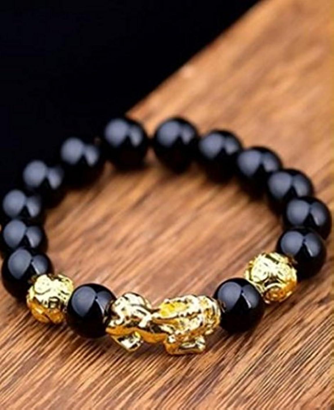 Generic Men's_ black bracelet bangle _Onyx_Gold_?_?_ women girls _Buddha_ bead hand _string_ jewelry bead jewelry bead jewelry _lovers_ hand gift