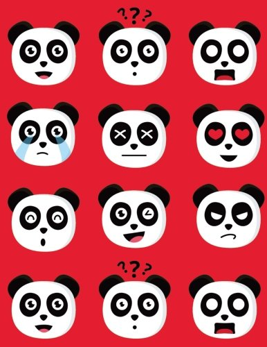 Emoji Pandas Draw and Write Notebook Journal For School Kids, Students and Teachers: 120 Pages With Drawing Box on Top Half of Page and Lines on ... Emojis For Kids or Adults - 8.5 by 11 inches