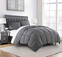 top 10 chezmoi comforter set Chezmoi collection 3 alternative bedding sets (queen, gray)