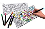 VHALE 2 Pack of Color Your Own Pencil Case,...