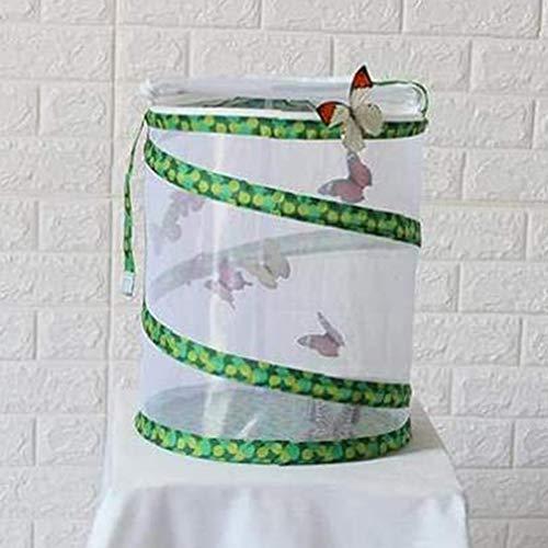 PETAMANIM Cage Papillon Habitat Insectes Filet Herbe trémie Bug Firefly Maison Pop Up Vert Taille Moyenne