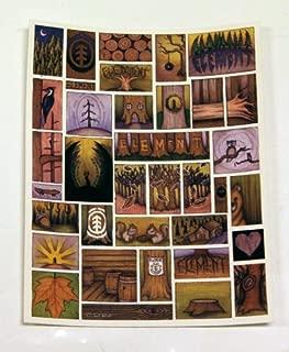 Element Skateboard Sticker Wildlife Art 4 x 5in