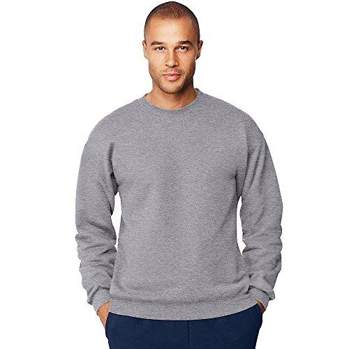 Hanes Ultimate Sweat-shirt à col rond en coton pour homme - Gris - XX-Large