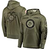 Personalized Custom Name United State Marine Insignia Rank GySgt 3D Hoodie, US Marine All Over Printed Shirt M1, Military Soldier Gift, Veteran Gift