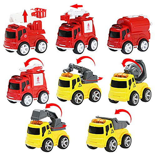 Great Price! 8 Pack Mini Sliding Toy Cars Push and Go Car Construction Vehicles Trucks Toy Vehicles ...