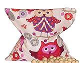 Kirschsteinsäckchen Kinder Eule ca. 24x24cm Kirschkernkissen Wärmekissen