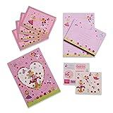 Juego de escritura infantil con hadas de Lucy Locket de color rosa - Kit de papelería con hojas, sobres y postales para niños