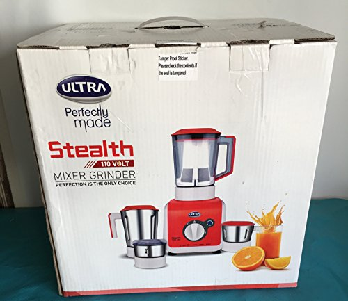 Ultra Stealth 750-Watt 4-Jar Mixer Grinder, 110 Volts