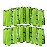 12pcs Petos de Entrenamiento Petos de Fútbol para Adultos ( Color : Verde )