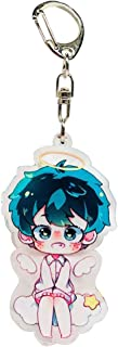 Bowinr My Hero Academia Key Chain, All Might Izuku Midoriya Todoroki Shoto Katsuki Bakugou Kawaii Keychain Keyring for Anime-Fans(Style 03)