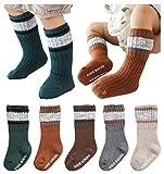 Knitting Socks Keep Warm Unisex Baby Non-Slip Knee-High Stockings for Toddler Little Boy Girls 2-4T