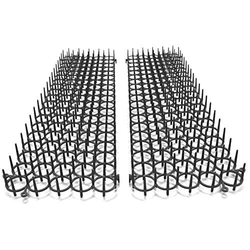 Set di 4 Griglie Anti-Parassiti - Stecco Anti-Piccioni, Uccelli, Gatti - Repulsivo naturale ed ecologico per aiuole e orti - Protezione immediata - Divisibile e modulabile - 49 X 14 CM