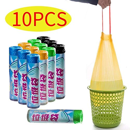 ZZBMKJ 10Pcs Bolsas De Basura Tipo Chaleco Grueso Conveniente Limpieza Ambiental Bolsa De Basura Bolsas De Basura De Plástico Bolsa De Basura De Cocina Bolsas De Basura