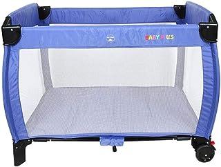 BABY PLUS BP7580 Baby Playard 107 X 75 X 78 cm, Blue - Pack of 1