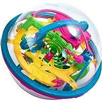 Geschicklichkeitsspiel für jung und alt. 100 Ettappen mit Hindernissen und Gleitbahnen. 14 x 14 cm. Ziel ist es eine kleine Kugel durch das bunte Labyrinth mit viel Geduld und Geschick zu führen. Im Geschenkkarton.