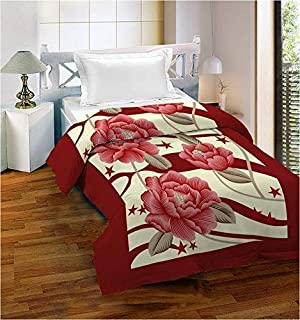 Bombay Dyeing Polyester 650 TC Blanket (Standard_Red)