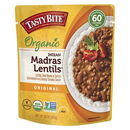 Tasty Bite Indian Madras Lentils, Microwaveable Ready to Eat...