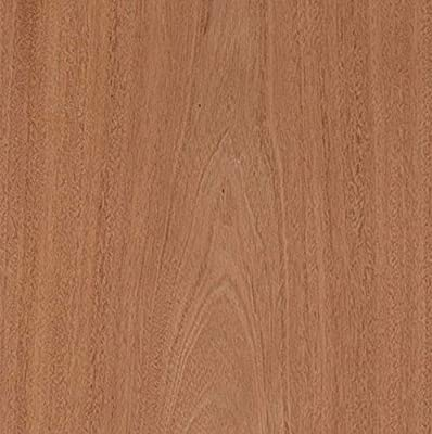 "Edge Supply Mahogany Wood Veneer Sheet Flat Cut, 24"" x 96"", Peel and Stick, ""A"" Grade Veneer Face – Easy Application with 3M Self Adhesive Veneer Sheet – Veneer Sheets for Restoration of Furniture"