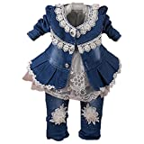 Yao 6M-4Y Infant 3Pcs Baby Girls Clothes Set Toddler...