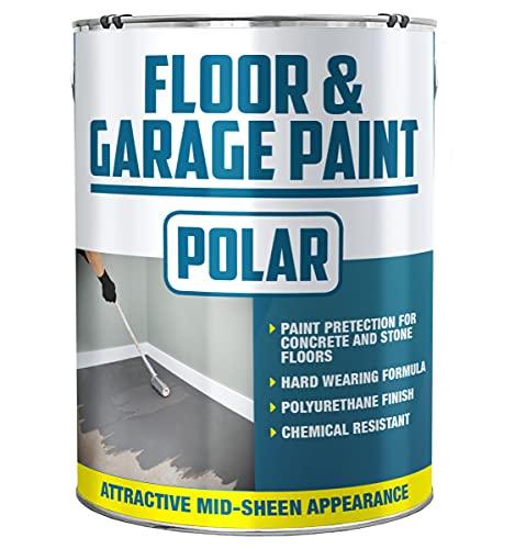 Polar Heavy Duty Garage Floor Paint Light Grey for Concrete and Stone Floors