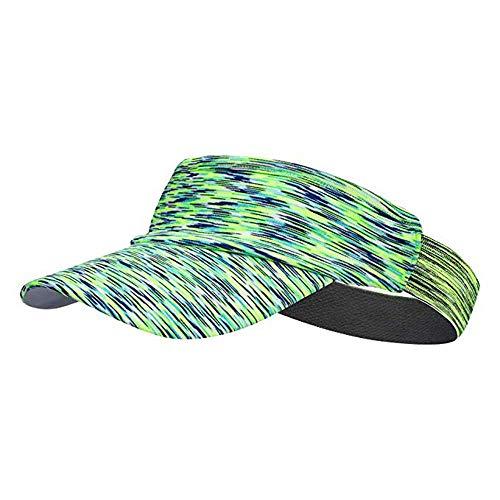 TEFITI Sun Visor Hat for Women Men, Adjustable Sports Hat for Golf Tennis Cycling Running Jogging(Green)