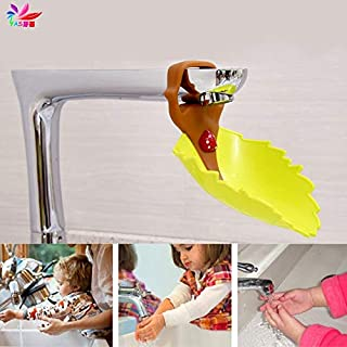 Faucet Extender Baby Kid Hand Washing Water Leaves Guiding Gutte-TWZ