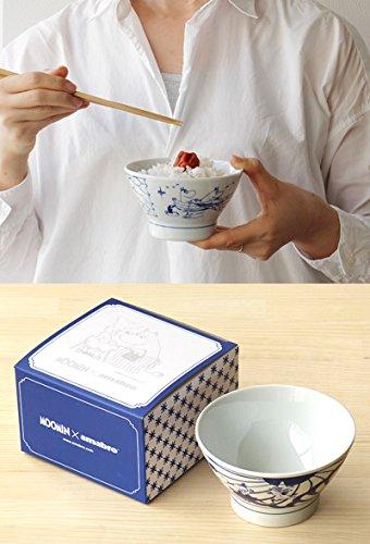 MOOMIN×amabroSOMETSUKE-CHAWAN-[Dancing]波佐見焼茶碗