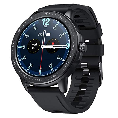 SANAG Smartwatch Uomo Smartwatch Tracker Fitness Watch Fitness Tracker Impermeabile Orologio Intelligente con Cardiofrequenzimetro, BP, Contapassi Con
