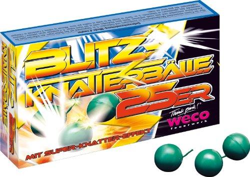 Weco 100 Blitzknatterbälle (4 Schachteln a = 25 Stück)