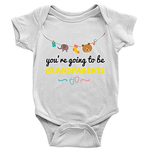 Kickass Tees Going to Be Grandparents Babygrow 0-3m White Cute Sweet...