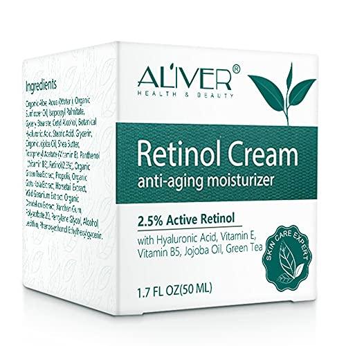 Crema idratante al retinolo, per viso, collo e...