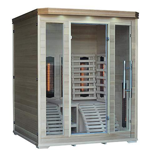 "Infrarotkabine""Kenia"", Hemlock Holz, Wärmekabine, Sauna, Infrarotsauna, Infrarotwärmekabine"