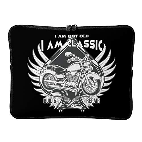 Regular I Am Not Old I Am Classic Laptop Bags Expandable Slim Tablet Cases Suitable for School White 13 Zoll