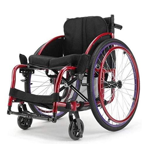 YISUNF Sport Typ Rollstühle 13Kg Luxus tragbare Falten Transport Rollstuhl ergonomischer Sitz, Schwarz, A