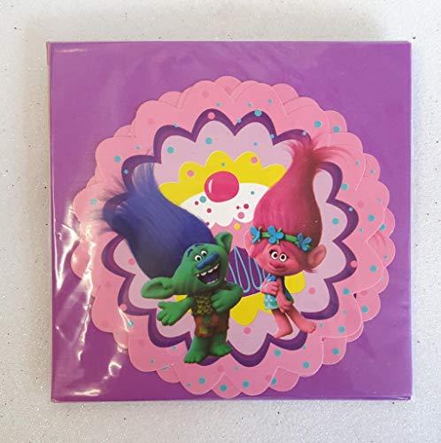 DreamWorks Einladungskarten mit Umschlägen Trolls Geburtstagskarten 6 Stück violett-bunt