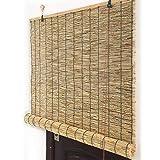 LBYDXD Persiana Bambu Exterior - Hecho a Mano, Aislamiento Térmico/Transpirables/Naturales, Decora Espacios Habitables para Uso Interior Y Exterior, Aparato para Levantar Persianas De Caña
